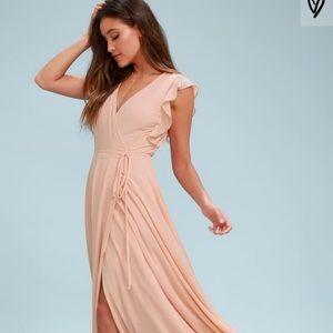 Lulus Maxi Wrap Dress